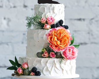 Wedding cake topper- Silhouette wedding cake topper- Personalized cake topper- Personalized wedding Cake Topper- Dance cake topper