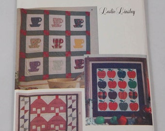 Quilt Wall Hanging Sewing Pattern, Butterick 6611, Leslie Linsley, Vintage