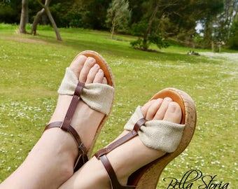 Amanda Vegan sandal in hemp-Made in Italy-Bacon Vegan shoes