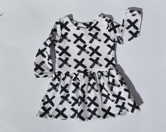 Black Brushstrokes Dress