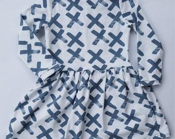 Blue Brushstrokes Dress