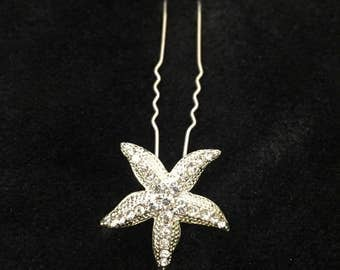 STAR - Silver Starfish Hair Pins