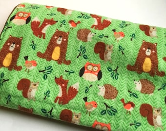 Forest Animals Minky Baby Blanket / Woodland Animal Nursery Bedding / Baby Shower Gift / Woodland Nursery Bedding / Ready to Ship