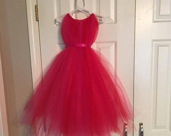 Red and Pink Tulle Dress