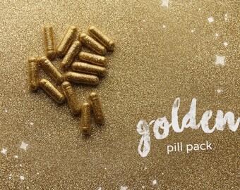 Cinderly Golden Glitter Pills