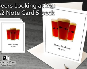 Funny Beer Stationery for Man, Beer Gifts for Men, Beer Note Cards, Funny Note Cards Men, Beer Stationary for Men, Stationery for Beer Lover
