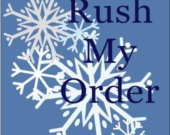 Rush My Order/ Front Door Hanger, Door Decor, Home and Living, Home Decor