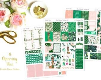 Resort Life - Printable Planner Stickers - Instant Download