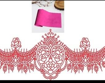 Flower lace mat