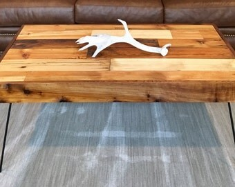 Reclaimed Wood Coffee Table, Barn Wood Table, Barnboard Sofa Table, End table, Dining table with Metal Hairpin Legs, ANY SIZE!!!