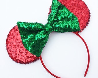 The Full Sequin (Red) - Disney Inspired Mouse Ears Headband