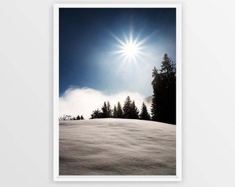 Printable Forest Art Pine Tree Forest Misty Mountain Minimalist Print Instant Download Winter Photography Nordic Landscape Alps Poster Art