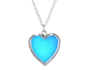 heart necklace, locket