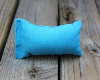 Solid sky blue catnip pillow