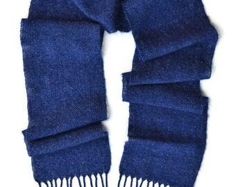 Soft Scarf - Winter Scarf - Handmade Scarf - Blue Scarf - Wool Scarf - Womens Scarf - Gift for Women - Gift for Mom - Holiday Scarf - Scarf