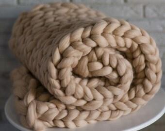 merino wool blanket chunky wool blanked arm knitted blanket wool blanket merino