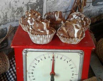 Cinnamon Rolls - Rustic - Miniature - Fake Eatables - Fabric - Ornaments - Handmade - Hand Painted - Cinnamon - Iced - Kitchen - Decor -