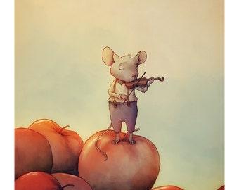 The Violinist | A4 Art Print