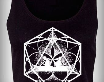 Odesza Flower of Life Sacred Geometry Crop Top