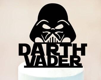 Darth Vader cake topper,Darth Vader Birthday cake topper,Darth Vader decoration,Darth Vader Star Wars cake topper,Darth Vader Party (1094)