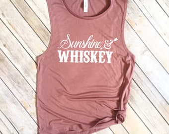 Sunshine & Whiskey Summer Muscle Tee - Sunshine and Whiskey