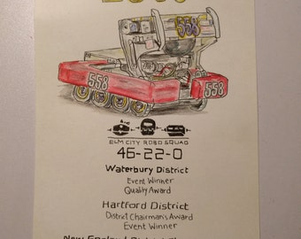 5x7 Custom Robot Drawings