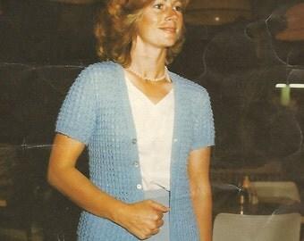 Ladies' Short Sleeved Cardigan Crochet Pattern
