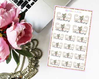 Therapy Session Planner Stickers - Mental Health, Counseling, Watercolor shabby Chic Appointment Stickers With Roses