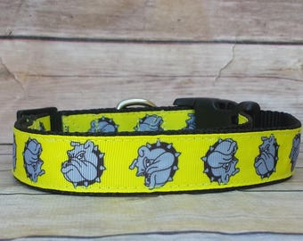 English Bulldog Dog Collar / Bull Dog Collar / Large Dog Collar / XL Dog Collar / Dog Gift / Dog Lover
