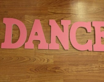 DANCE Letters with Pink Glitter Paper
