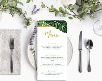 O9 | Printable Wedding Menu | Dinner Menu | Wedding Suite | Modern | Tropical |