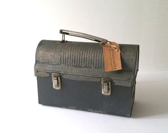 Vintage Industrial lunchbox with thermos
