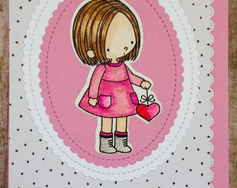 Good for my Heart card, handmade greetings,  just because cards, thinking of you cards, friendship card, I love you card, any occasion card
