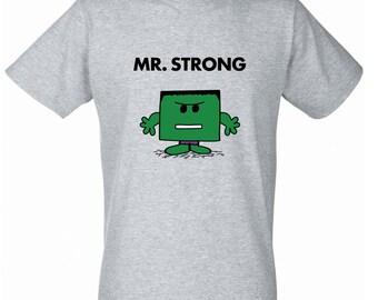 Mr Men/Marvel Mashup - The Hulk/Mr Strong