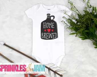 Home Brewed, Baby Girl Coming Home Outfit, Funny Baby Onesie ®, Baby Shower Gift, New Baby Gift, Beer Onesie