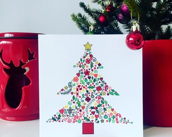 Carden Coeden Nadolig  - Christmas Tree Card