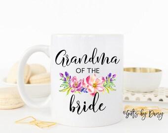 grandma of the bride coffee mug, family wedding gift, coffee mug, wedding mug, gift for her, wedding mug, gift for nana, wedding nana tia