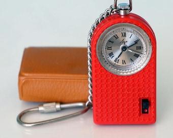 "Vintage Soviet alarm clock Luch ""RAY""-Travel alarm clock -Soviet watch -Retro clock-Pocket watch with alarm clock USSR -Travel pocket watch"