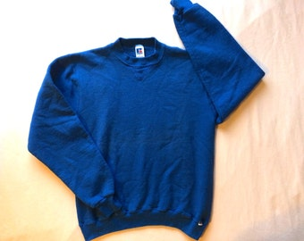 vintage 1980s Russell Athletic blue sweatshirt size Small made in USA