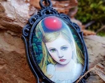 The Black Line necklace chain girl, little girl Gothic, black scene, Lolita necklace