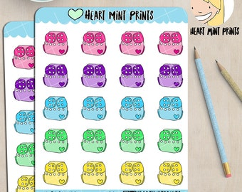 Modern Cloth Nappies Planner Stickers / Cloth Diapers / Reusable Diapers / MCNs / B28