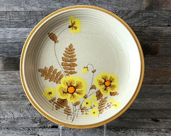 Set of 4 Vintage Mikasa Natures Song Fernflower Dinner Plates, Mikasa Natures Song, Stoneware Dinner Plates