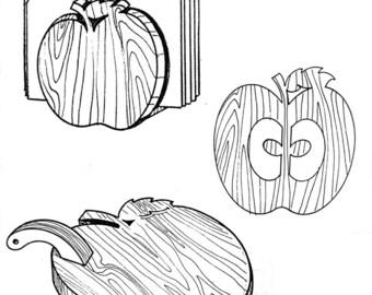 Apple Set Kitchen Helpers #307 - Woodworking / Craft Pattern