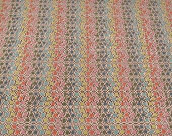 Sugar Pop! Liz Scott for Moda #18067, pink, orange, green, teal, aqua dots and chain, Quilt Fabric 100% Cotton