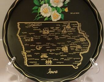 Iowa Souvenir tray, Vintage!