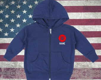 Toddler Firefighter Zip-Up Hoodies