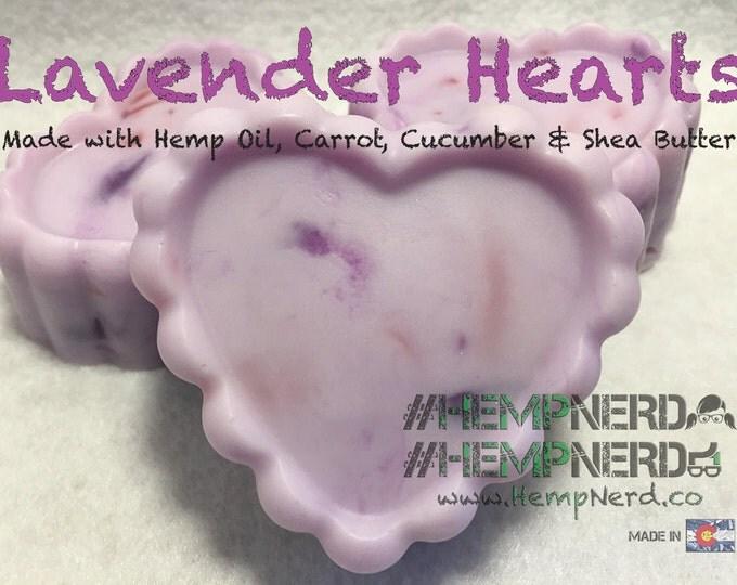 Hemp Soap Lavender Hearts
