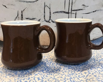 Vintage Schmidt Diner Style Coffee Mugs Set of Two