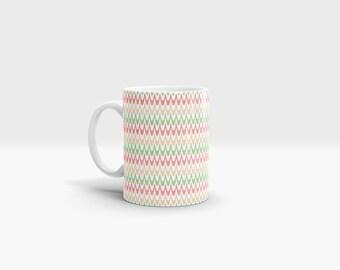 Pastel Waves Mug. 11oz Ceramic Mug.