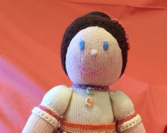 Country Kate Hand Knitted Doll